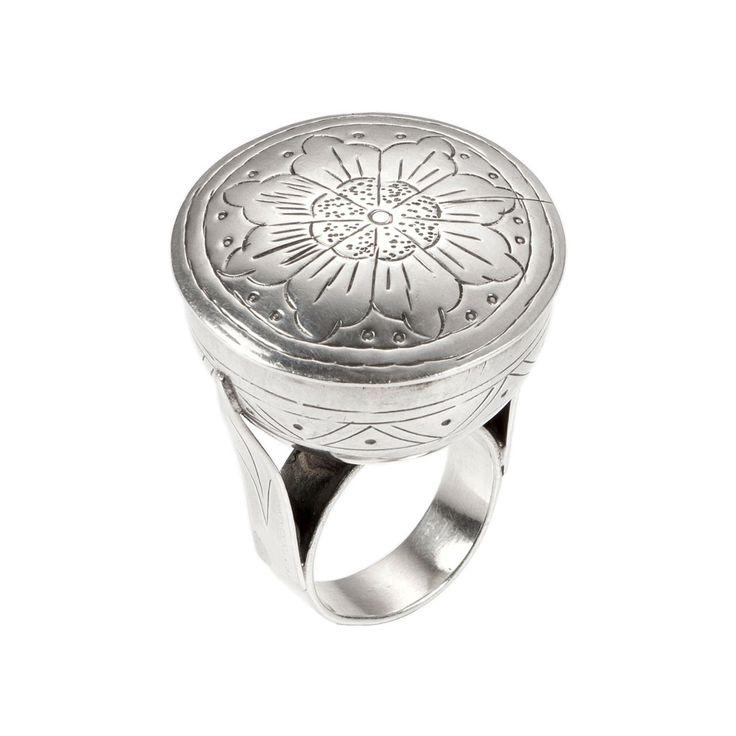 Inel cutiuță Taj, argint, India