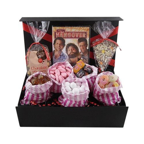 Treat your Dad to a comedy movie night in. This fabulous gift box hamper comes with a choice of 6 DVDs and is filled with yummy pic 'n mix sweet treats. Just make sure he shares this gift with you.