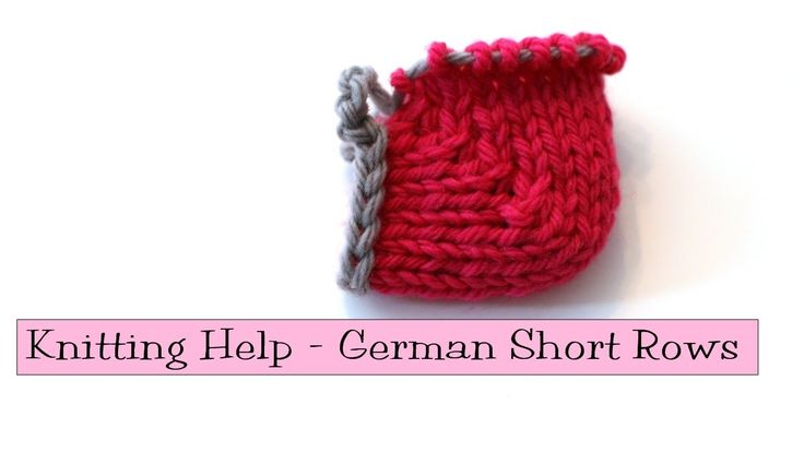 Knitting Help - German Short Rows Plenty of knitters don't like working wraps & turns when knitting short rows. German short rows are an alternative to w&ts that actually do their job and look good! In this video, I show you how to work them, and how to substitute German Short Rows for w&ts in patterns.