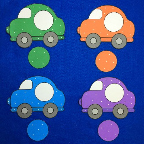 car color match for toddlers and preschool