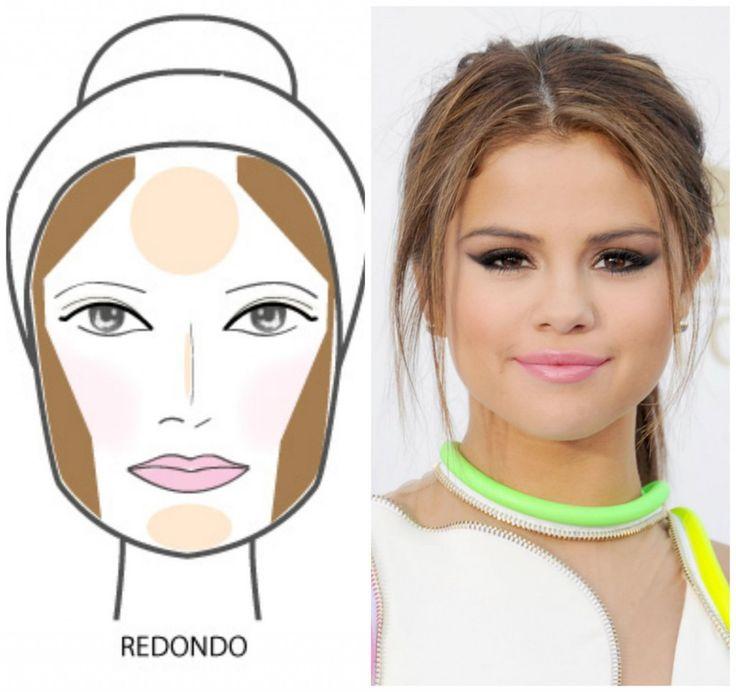 contorno maquiagem rosto redondo