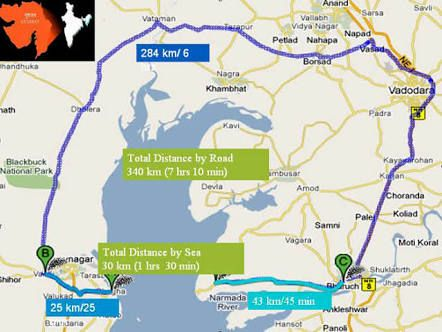 Ghogha-Dahej Ro-Ro Ferry Service will start shortly.