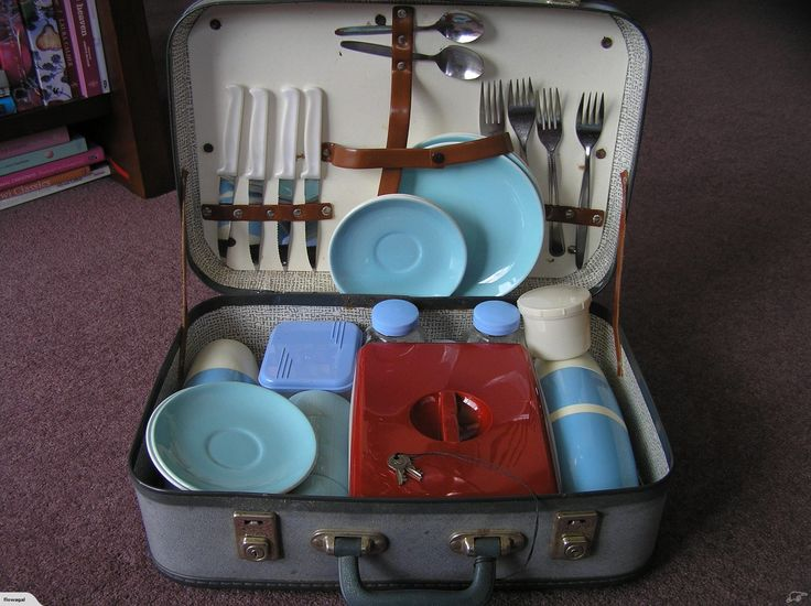 Vintage Optima Picnic Set and Case | Trade Me