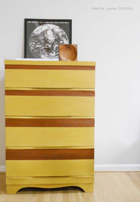 Spiced Yellow Mid-Century Dresser