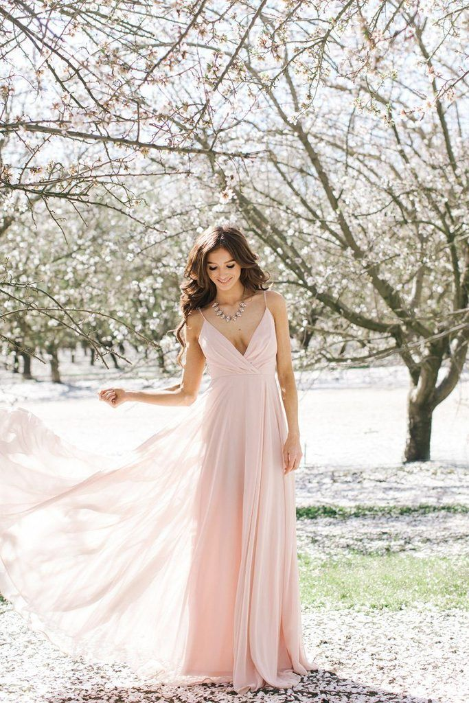 e9333db3882d Petite Cassidy Blush Flowy Maxi Dress in 2019 | Bridesmaid dresses | Dresses,  Blush pink maxi dress, Flowy bridesmaid dresses