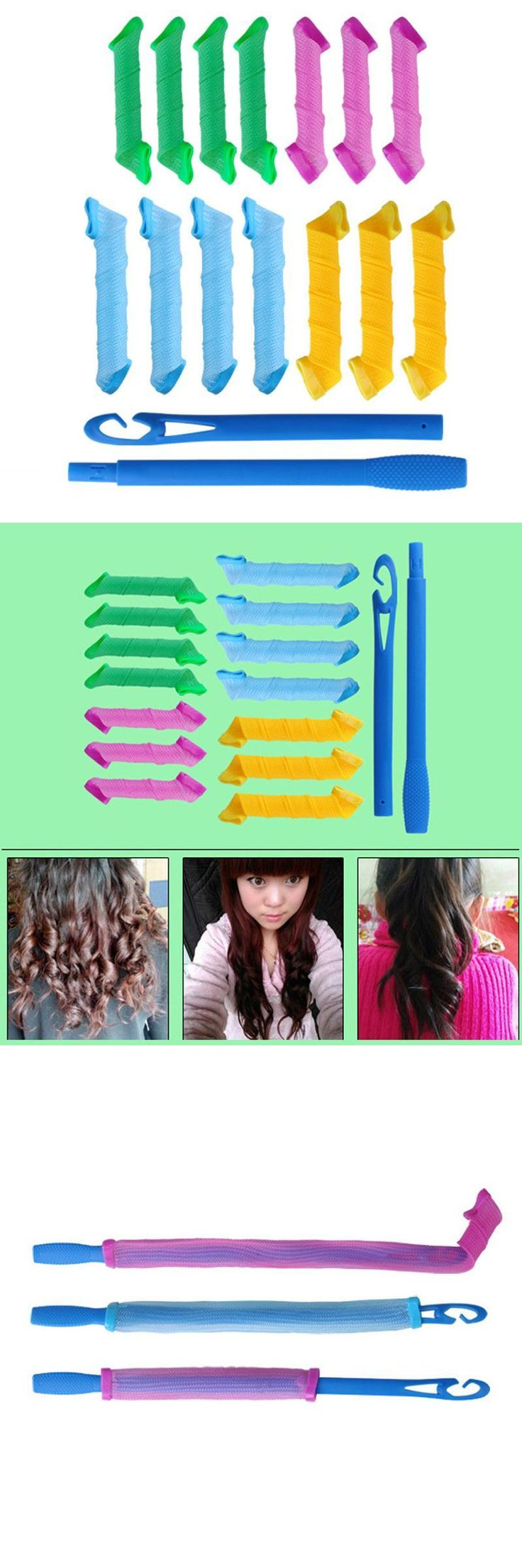 [Visit to Buy] 14 pcs Long Spiral Curls Top Up Pack Hair Curler Curls Former for Wavy Tight Spiral Curls  ( random color ) #Advertisement