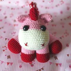 Pink Baby Unicorn - free crochet pattern