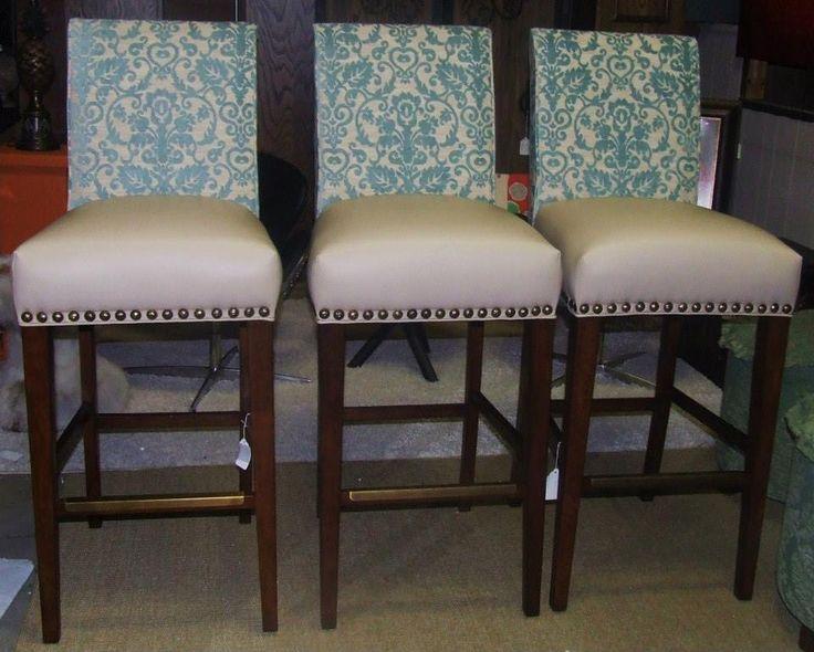 custom upholstered bar stools kitchen remodel