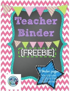 Love free things? Here's an ADORABLE **FREE** Printable Teacher's Binder!