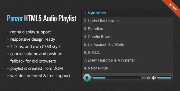 Panzer - HTML5 Audio Playlist