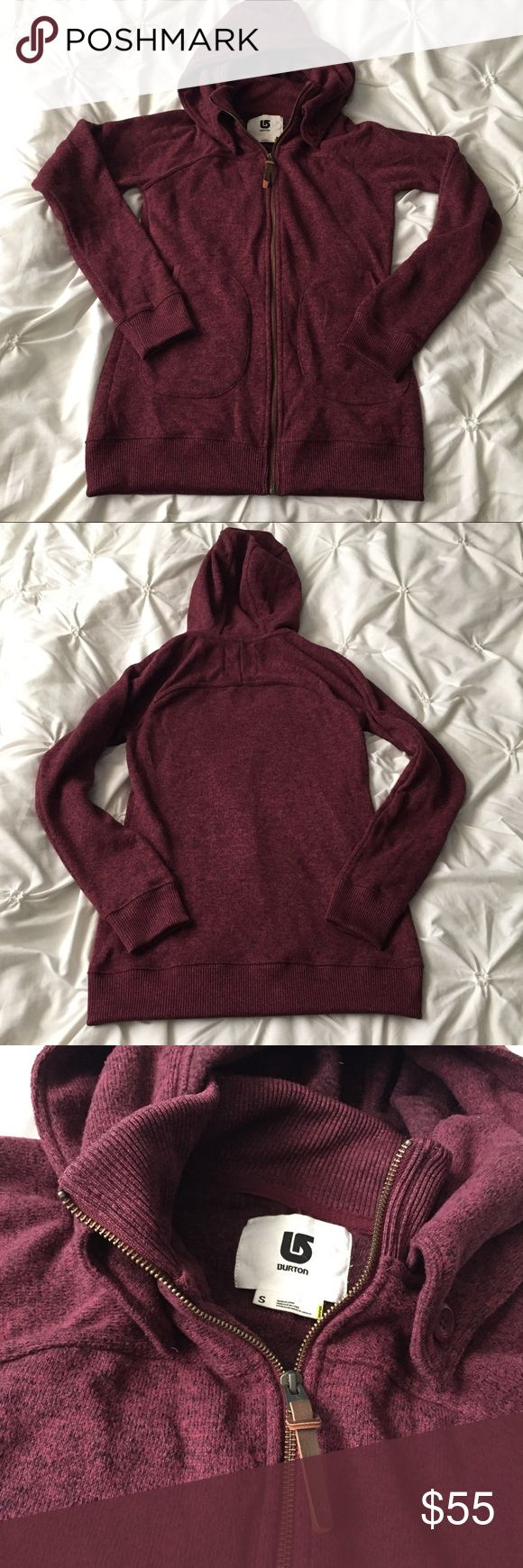 Burton Snowboard Maroon Full Zip Hoodie Burton Snowboard Maroon Full Zip Hoodie size Small, front pockets, neck button detail ---- 🚭 All items are from a non-smoking home. 👆🏻Item is as described, feel free to ask questions. 📦 I am a fast shipper with excellent ratings. 👗I love bundles & bundle discounts. Feel free to make an offer! 😍 Like this item? Check out the rest of my closet! 💖 Thanks for looking! Burton Tops Sweatshirts & Hoodies