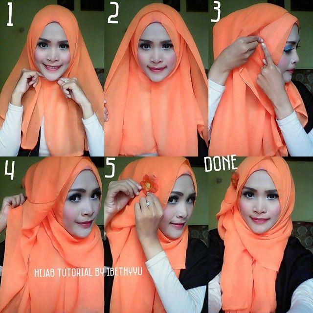 Pin Back Basic Hijab Tutorial