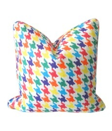 Happy Houndstooth Cushion by Ivy & Piper