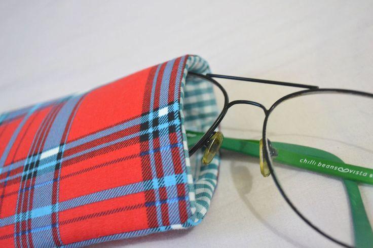 Porta-óculos Xadrez | R$15,00