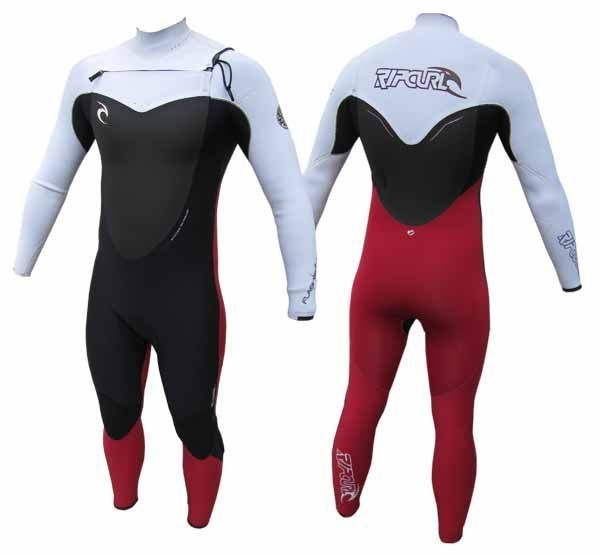 Rip Curl Flash Bomb 5/3 Mens Winter Wetsuit 2013 - Black/Red/White
