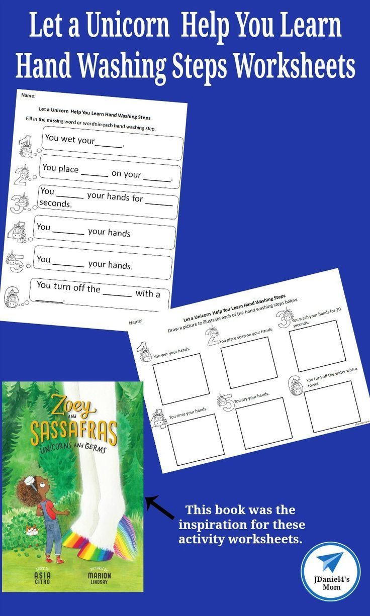 Let A Unicorn Help You Learn Hand Washing Steps Worksheets Jdaniel4s Mom Printable Activities For Kids Kids Learning Activities Preschool Learning Activities [ 1226 x 736 Pixel ]