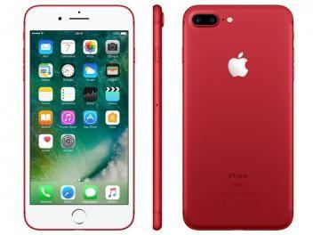 "iPhone 7 Plus Vermelho / Red Special Edition Apple - 256GB 4G 5.5"" Câm. 12MP + Selfie 7MP iOS 10"