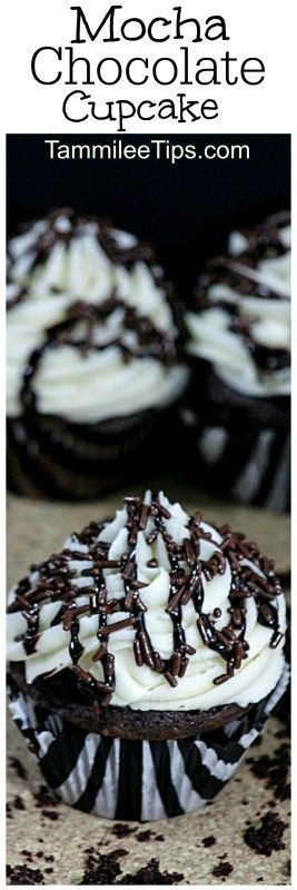 Easy Delicious Mocha Chocolate Cupcake Recipe you will love! Made from scratch but so easy to make, plus the coffee frosting is amazing! Perfect for work parties, birthday parties, and more!