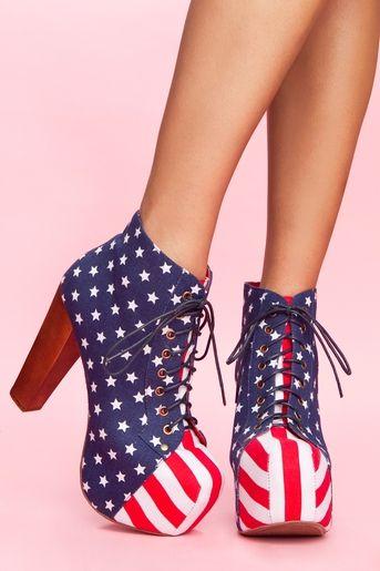 Lita Platform Boot - American Flag