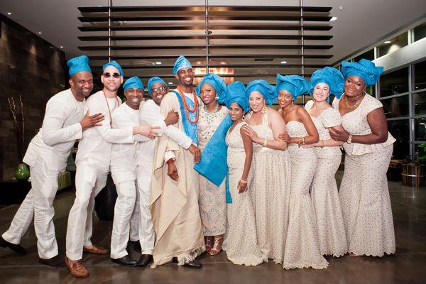 Traditional African Wedding Bridal Party ~Ankara Aso Ebi ~ Wedding Attire…