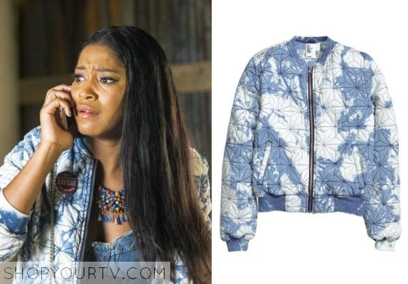 Scream Queens: Season 1 Episode 4 Zayday's Tie Dye Bomber Jacket