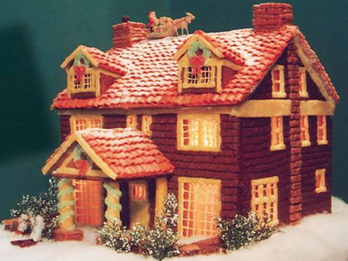25 best ideas about gingerbread house pictures on for Chocolate gingerbread twigs
