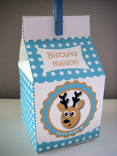 Lady Bidouille: DIY : Boîtes à imprimer pour des biscuits faits maison