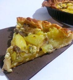 Torta salata con funghi, patate e gorgonzola-Oggi si cucina...