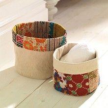 Upcycled Storage Baskets