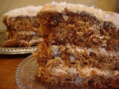 Дайте ему хорошо пропитаться!!!! И торт вас не оставит равнодушными!!! Очень вкусный торт!!! Тесто: 3 яйца 1 стакан сахара 0,5 стак. орехов  4 столовые ложки жидкого мёда (у меня был густой….2 ст.л. растопила в микроволновке…и получилось 4 ст.л. жидкого) 1 столовая ложка водки ( у меня коньяк) 1 чайная ложка соды — НЕ гасить. …