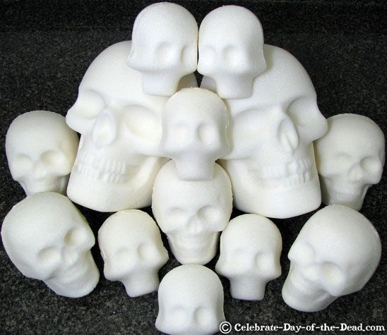 How to Make Sugar Skulls: Day of The Dead ( Dia de los Muertos) Step-by-Step Demo with Photos, Using Sugar Skull Molds