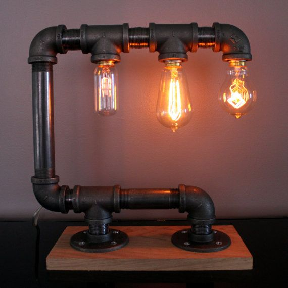 This is a professional quality, hand-crafted industrial pipe touch lamp. Includes touch activated dimmer switch with 3 lighting levels. Vintage Edison