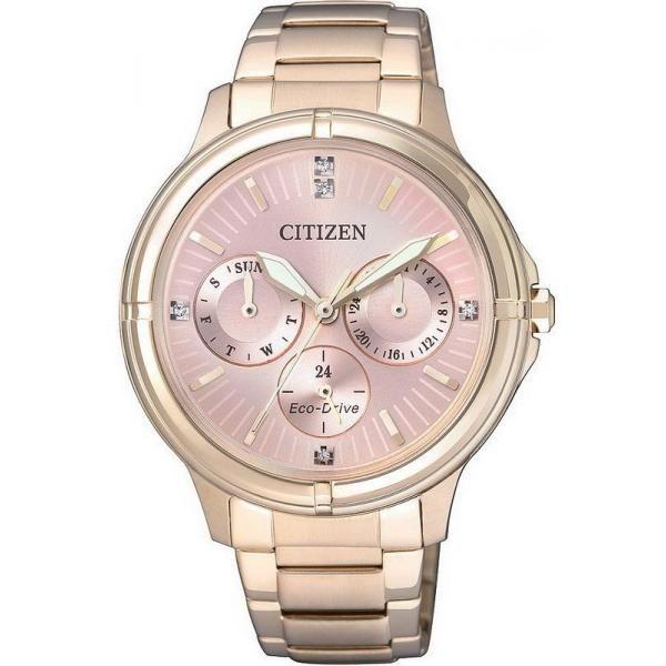 Citizen Zhenskie Chasy Eco Drive Fd2033 52w Mnogofunkcionalnyj Damenuhren Uhren Armbanduhr