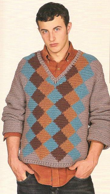 Finale Argyle by Drew - The Crochet Dude, via Flickr