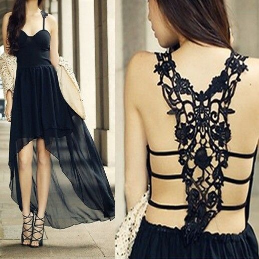 Fashion...Love the back of this dress!!!