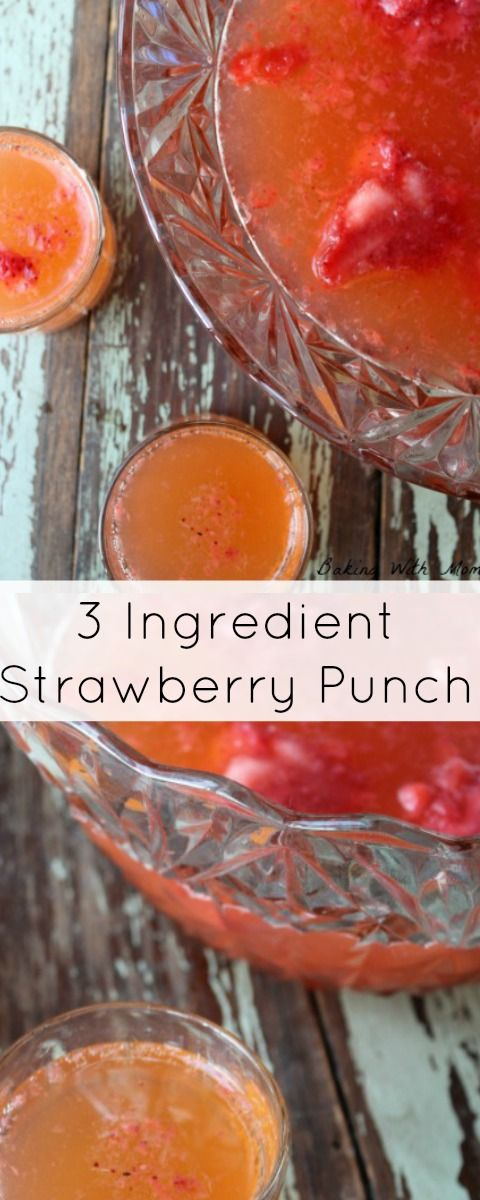 3 Ingredient Strawberry Punch Ginger Ale, strawberries and lemonade make up this delicious family friendly drink. Great for Christmas parties and celebrations