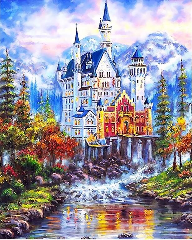 Fairy Tale Castle Paint By Numbers Kit For Adults In 2020