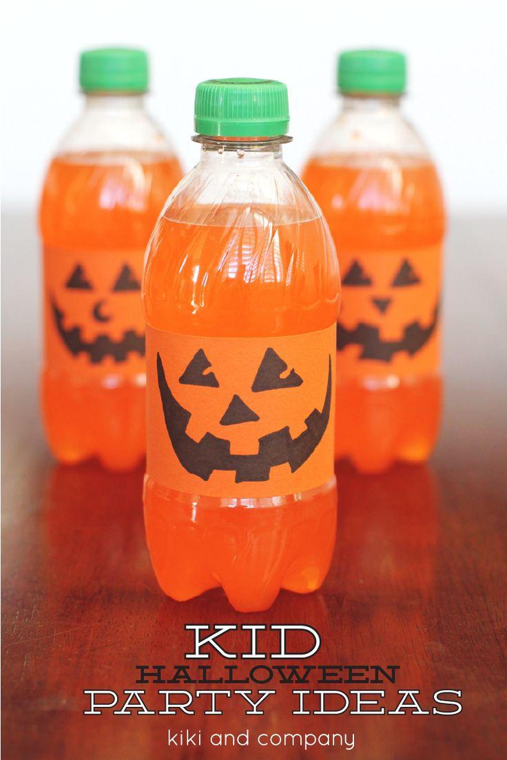 Orange Pumpkin drinks Halloween idea {tutorial} - Kiki & Company