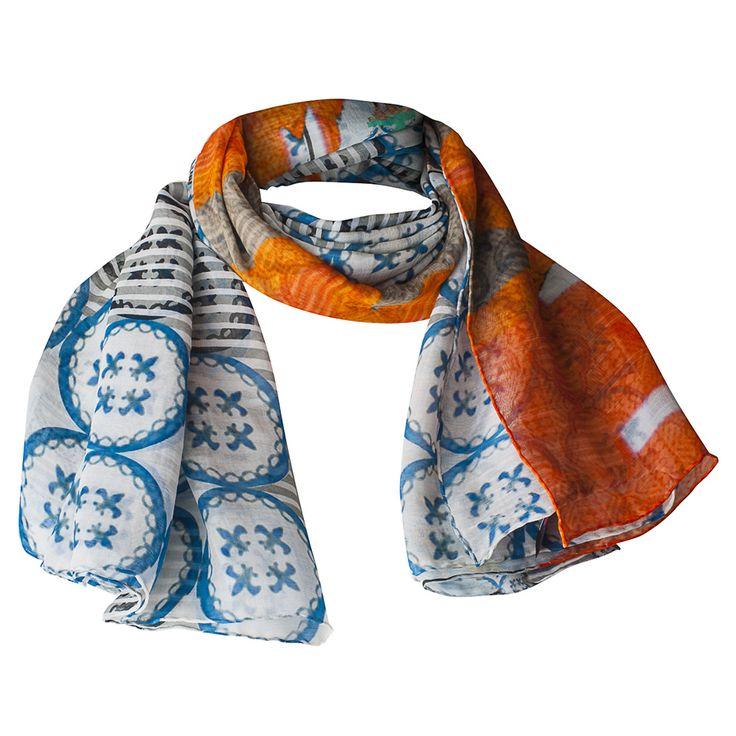 Cashmere Silk Scarf - Tuareg Blue st by VIDA VIDA n9GsIua