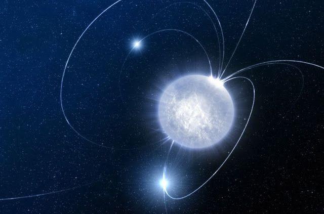 Penggambaran bintang neutron. Kredit: ESO/Luis Calcada   SpaceNesia -Bintang neutron  bisa dibilang merupakan objek yang paling eksotis ...