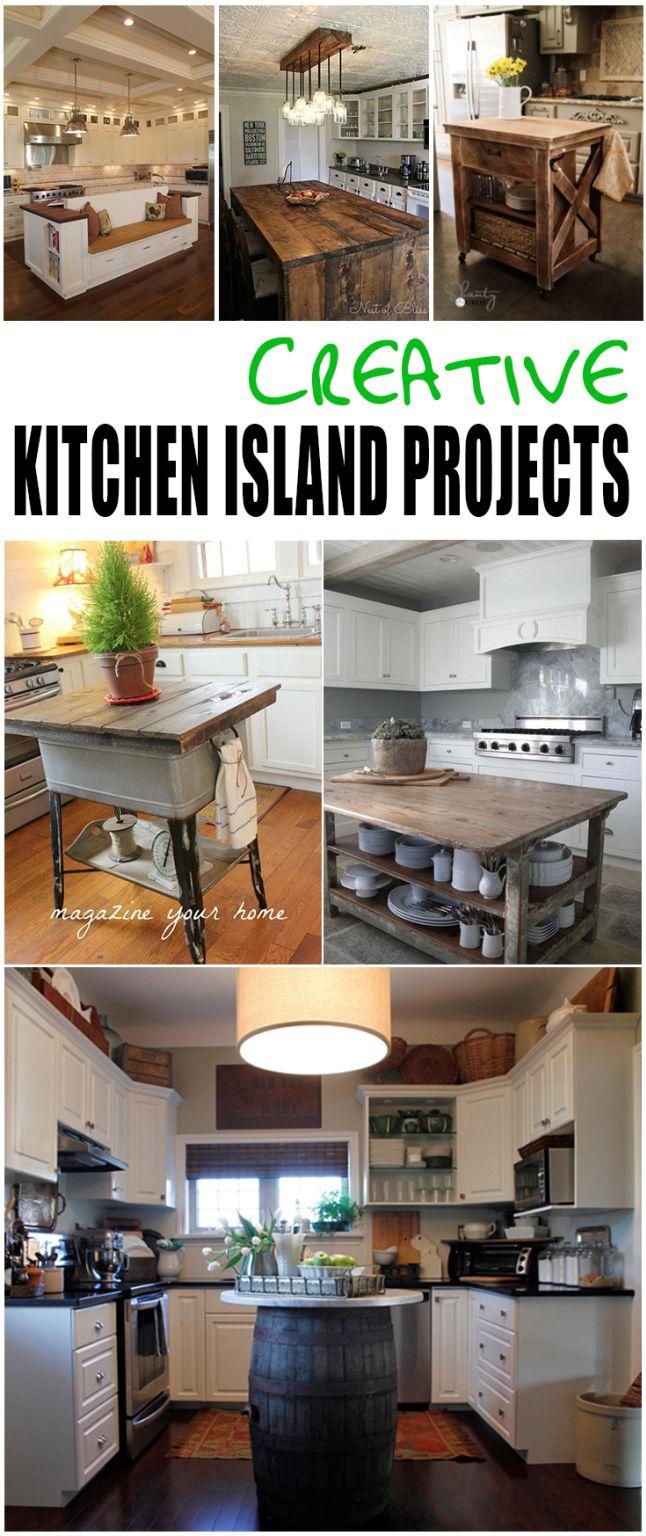 Creative Kitchen Island Projects