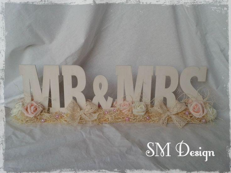 Mr&Mrs - Vintage esküvői asztaldísz  https://www.facebook.com/steiguszdesign/photos/pb.1412029162365217.-2207520000.1438622432./1659736280927836/?type=3