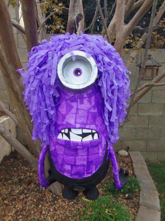 Evil Purple Minion Pinata by plethorapinatas on Etsy, $75.00