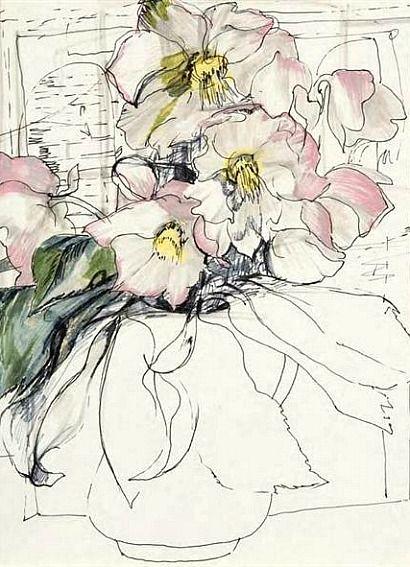 Robin Philipson  Christmas Roses  1972