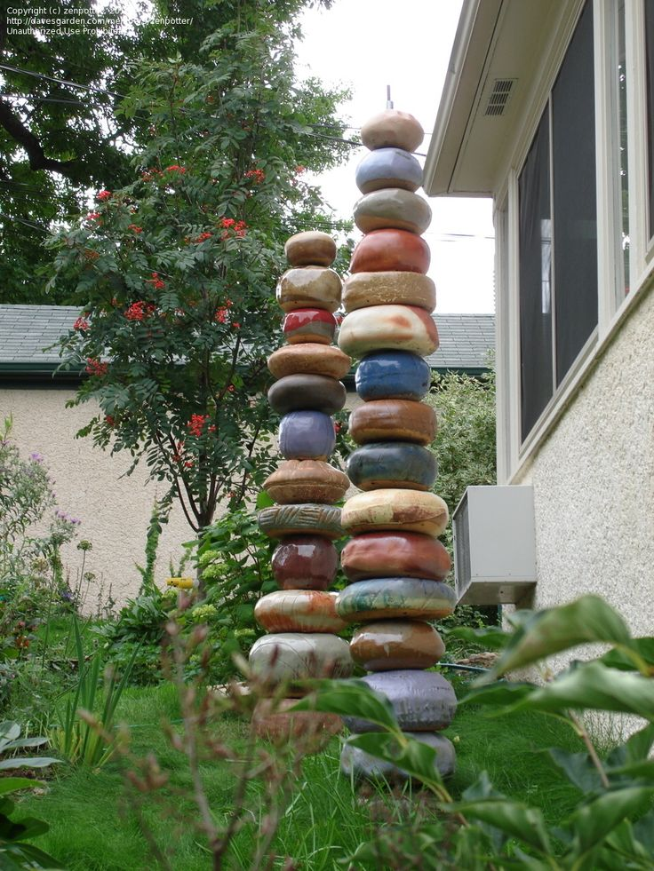 garden totems   have made 3 totems that are each 7' tall. Here is a photo of the two ...