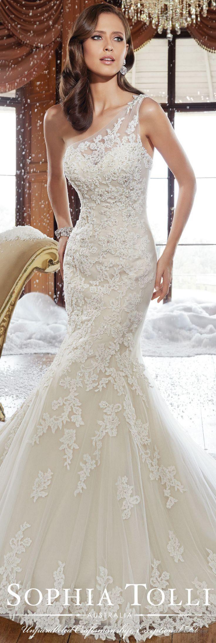 Best 25 one shoulder wedding dress ideas on pinterest for One shoulder wedding dress