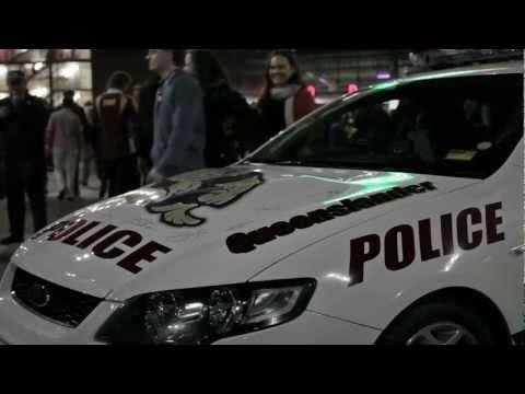 Queenslander Police Car at State of Origin 2012