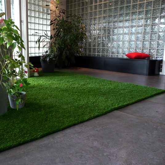 Chez d coration avec un tapis en gazon for Amenagement jardin gazon synthetique