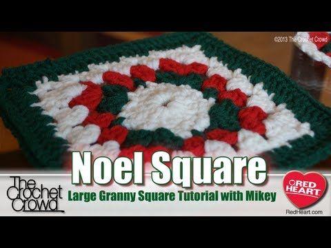 Crochet Large Noel Granny Square