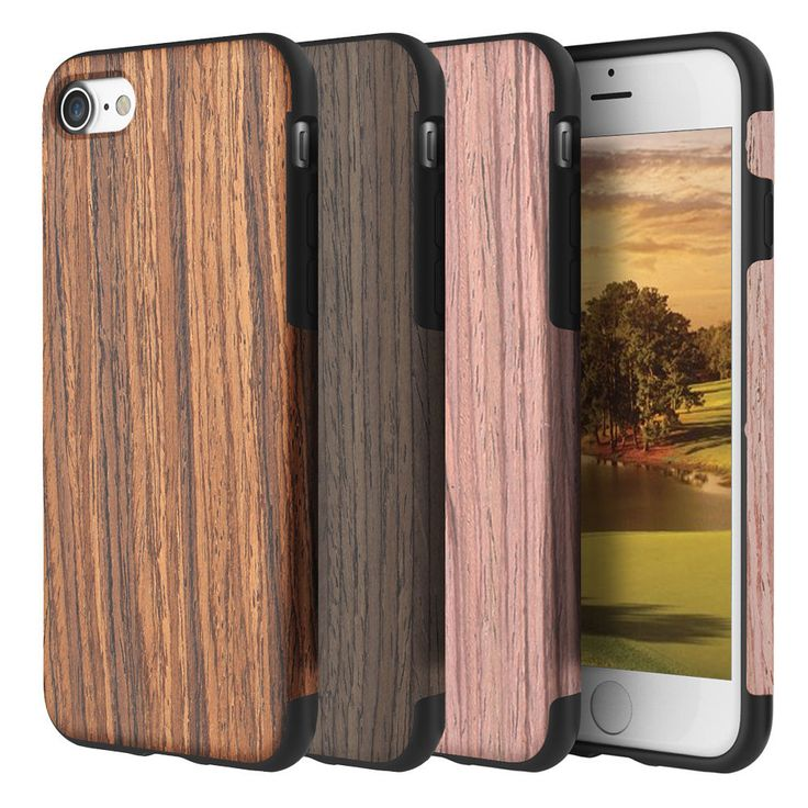 For Apple iPhone 7 / 7 Plus Real Wood Wooden Slim Fit Hybrid TPU Case Cover - IN STOCK✔Grained✔FREE Metal Plate✔US Seller #slim #hybrid #case #cover #wooden #wood #iphone #plus #real #apple
